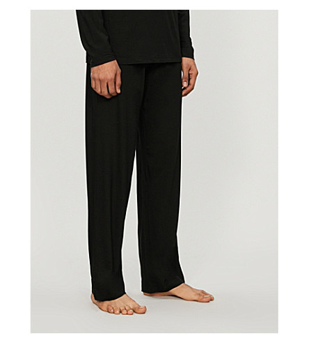 DEREK ROSE Basel casual pants (Black