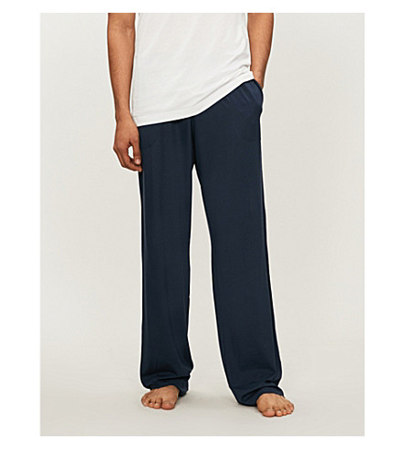 DEREK ROSE Basel casual trousers (Blue