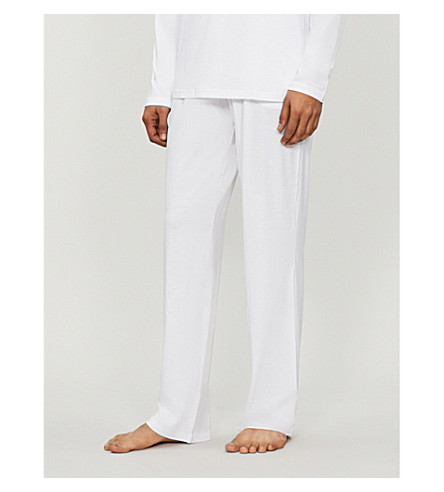 DEREK ROSE Basel casual trousers (White