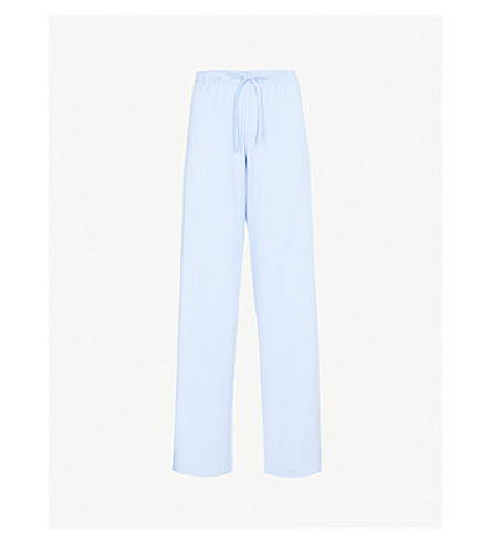 DEREK ROSE Basel casual trousers (French+blue