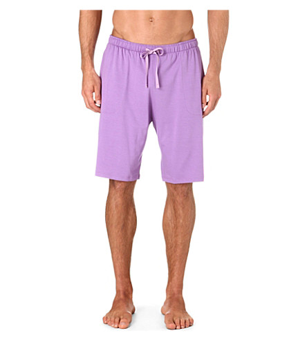 DEREK ROSE Basel stretch-jersey shorts (Lilac