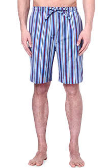 DEREK ROSE Mayfair stripe loungewear shorts