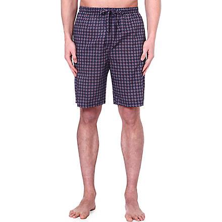 DEREK ROSE Nelson printed loungewear shorts (Navy