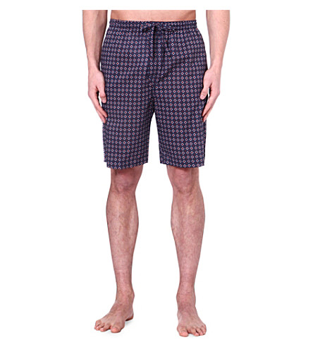 DEREK ROSE Nelson printed loungewear shorts (Navy