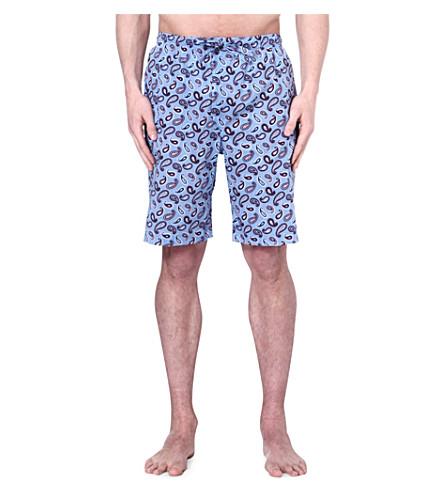 DEREK ROSE Nelson paisley loungewear shorts (Blue