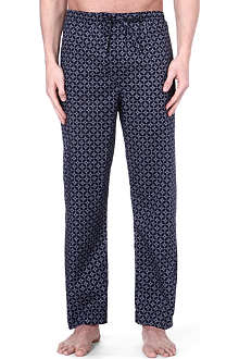 DEREK ROSE Arlo print cotton trousers