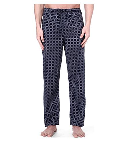DEREK ROSE Arlo print cotton trousers (Navy