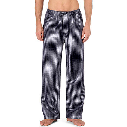 DEREK ROSE Braemar checked lounge trousers (Navy