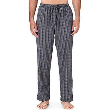 DEREK ROSE Ezra checked lounge trousers (Charcoal