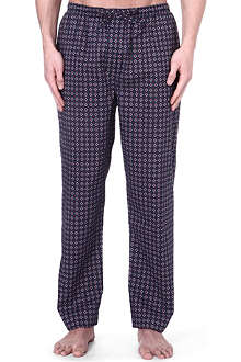 DEREK ROSE Nelson print cotton trousers