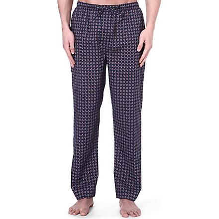 DEREK ROSE Nelson print cotton trousers (Navy