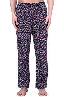 DEREK ROSE Nelson paisley cotton trousers