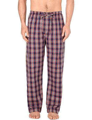 DEREK ROSE Checked brushed-cotton pyjama bottoms