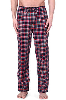 DEREK ROSE Ranga brushed cotton check trousers