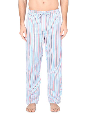 DEREK ROSE Wellington striped cotton pyjama bottoms