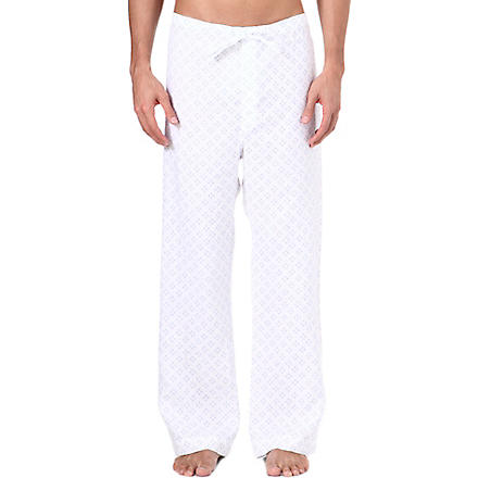 NATURALLY Liam floral logo pyjama bottoms (White