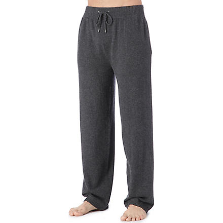 DEREK ROSE Finley cashmere trousers (Charcoal