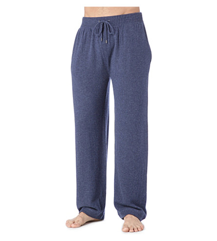 DEREK ROSE Finley cashmere trousers (Navy