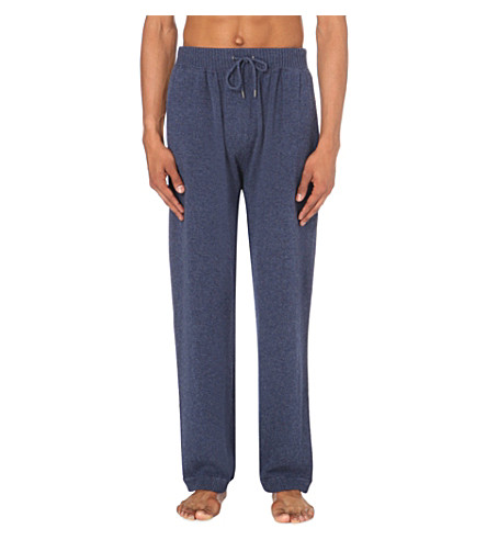 DEREK ROSE Finley cashmere pyjama bottoms (Navy