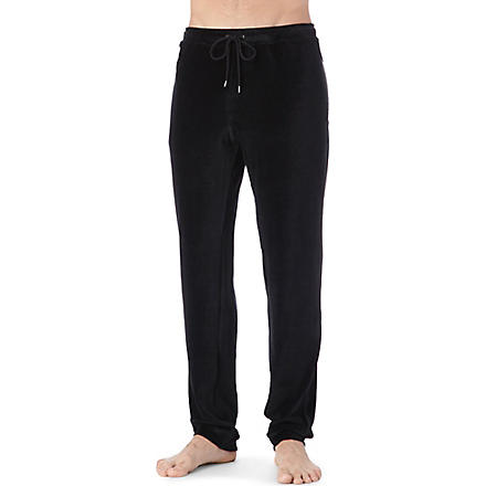 DEREK ROSE Nico velour trousers (Black