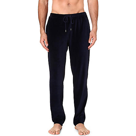 DEREK ROSE Nico velour trousers (Navy