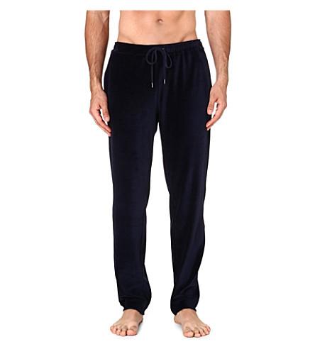 DEREK ROSE Nico velour trousers (Navy