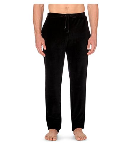 DEREK ROSE Nico velour jogging bottoms (Black