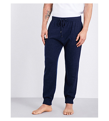 DEREK ROSE Finley cashmere pyjama bottoms (Midnight
