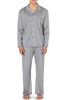 DEREK ROSE Polka-dot jersey pyjamas