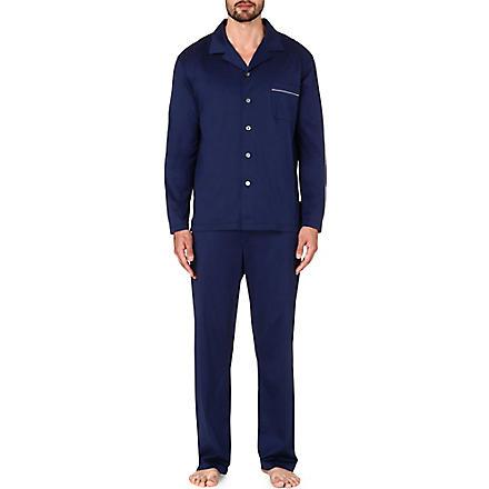 DEREK ROSE Bari cotton jersey pyjama set (Navy