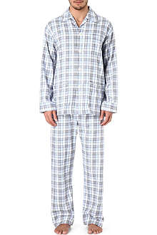 DEREK ROSE Amelia 8 checked pyjamas