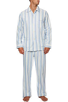 DEREK ROSE Arctic stripe brushed cotton pyjamas
