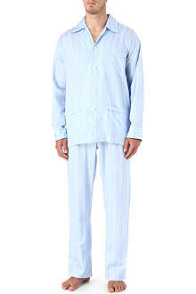 DEREK ROSE Satin stripe pyjamas