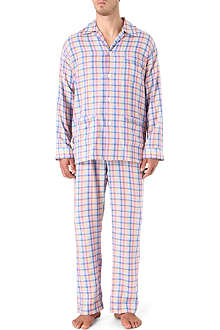 DEREK ROSE Bold check pyjamas