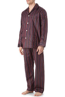 DEREK ROSE Dawn striped pyjama set