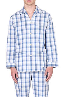 DEREK ROSE Ezra brushed-cotton pyjama set