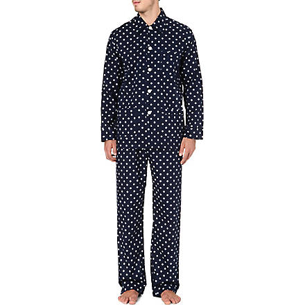 DEREK ROSE Nautical print pyjamas (Navy