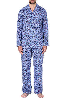 DEREK ROSE Nelson printed cotton pyjama set