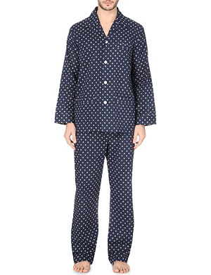 DEREK ROSE Nelson diamond-dot pyjama set