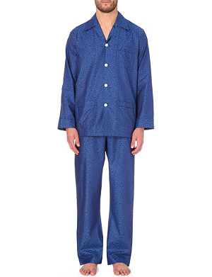 DEREK ROSE Baroque-print cotton pyjamas