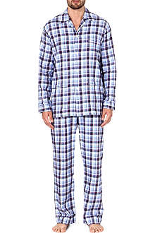 DEREK ROSE Ranga brushed cotton pyjama set