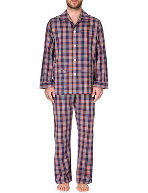 DEREK ROSE Plaid cotton pyjama set