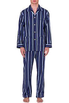 DEREK ROSE Striped cotton pyjama set