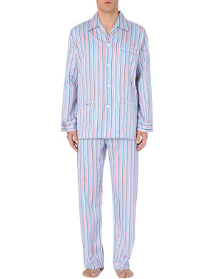 DEREK ROSE Bright stripe pyjama set