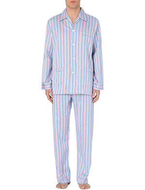 DEREK ROSE Bright stripe pyjama set
