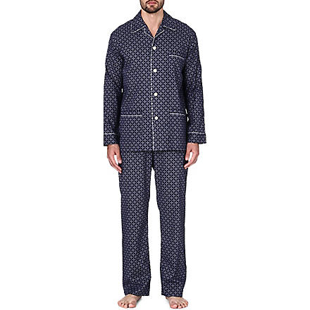 DEREK ROSE Arlo cotton pyjama set (Navy