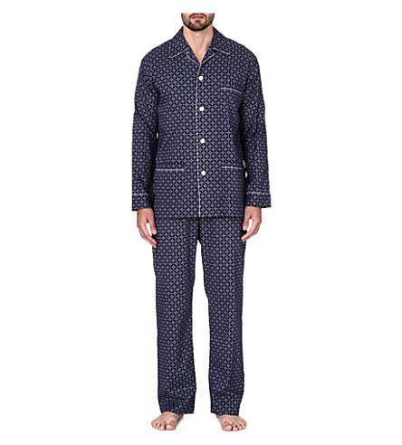 DEREK ROSE Arlo cotton pyjama set (Navy