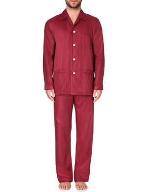 DEREK ROSE Jacquard patterned cotton pyjama set