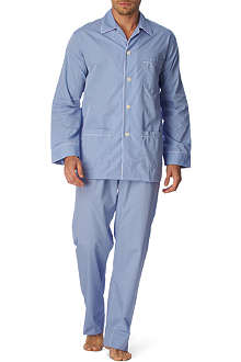 DEREK ROSE Contrast-trim pyjama set