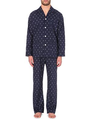 DEREK ROSE Seahorse cotton pyjamas